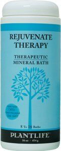 Rejuvenate Therapeutic Mineral Bath Salt - 16 oz by Plantlife. Save 10 Off!. $16.65. Made with Celtic Sea Salt hand harvested from the pristine waters off the northern coast of France. Can be mixed with Plantlife massage oil to create a wonderful salt scrub.. Perfect to use when feeling tired or worn out. Made with Essential Oils, no sythetic fragrance oils. This synergistic formula will rejuvenate the body and mind. This pure salt is hand-harvested and sun-dried in the 2000 year old Celtic…