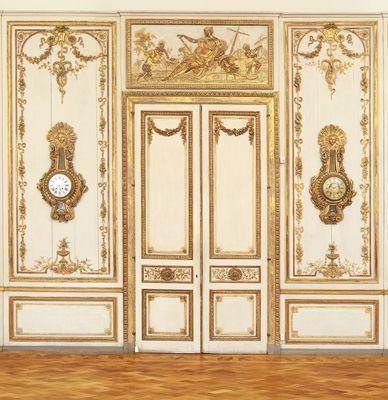 Louis XVI room, Hamburg, 1775, Originally from the Bel Etage in the house of the merchant and councilor, Nicolaus Lütkens Gottlieb (1716-1788) in St. Catherine Street 17 in Hamburg. MKG, Hamburg