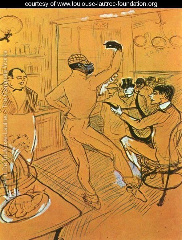 Chocolat Dancing In Bar Darchille - Henri De Toulouse-Lautrec - www.toulouse-lautrec-foundation.org
