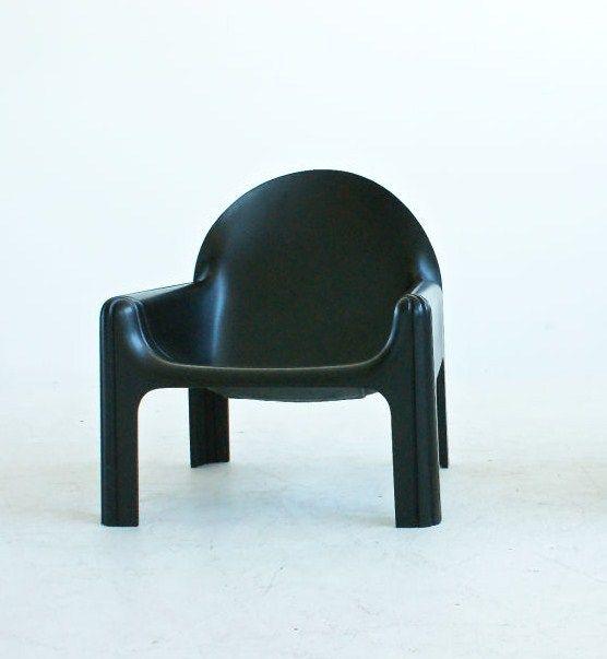 Gae Aulenti; #4794 Rigid Expanded Polyurethane Foam Lounge Chair for Kartell, 1972.