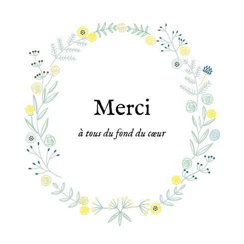 carte de remerciement Merci douceur champêtre by Tomoë pour www.fairepartnaissance.fr #birth #rosemood