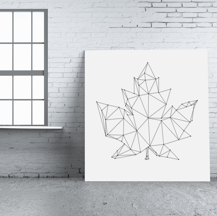 String-art pattern sheet BLAD 04 (80 x 76cm) available at spijkerpatroon.nl