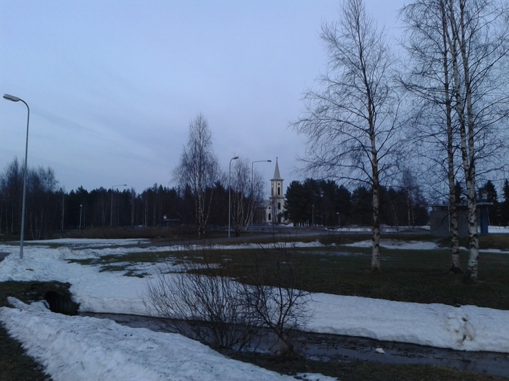 Some church from a distance in Oulunsalo, Oulu.