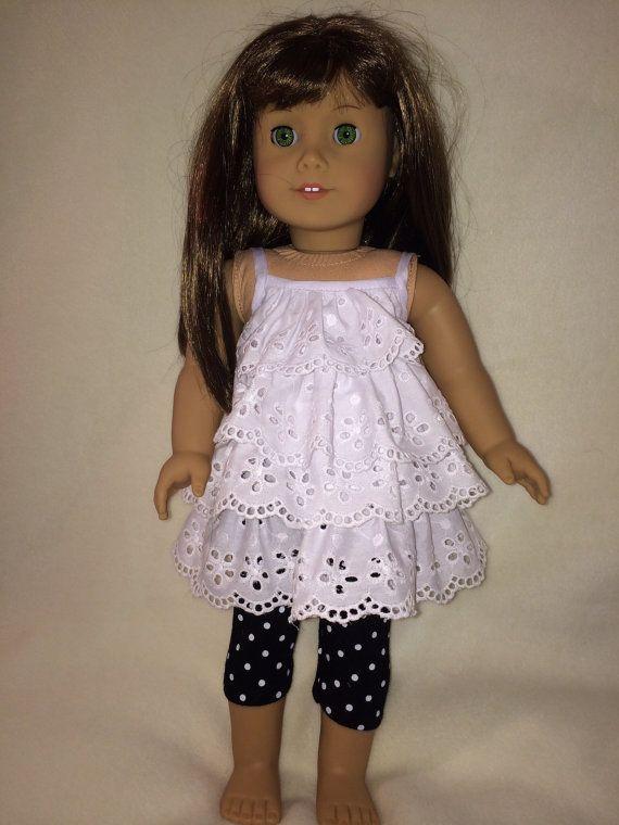 Inspiration American girl doll sundress with capri by DollClothesByRoseAnn, $9.00