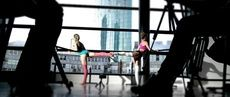 Sleek Technique Ballet Bootcamp with a beautiful view from The barre... Watch the video and experience it for yourself http://www.sleektechnique.com/on-demand-workouts/
