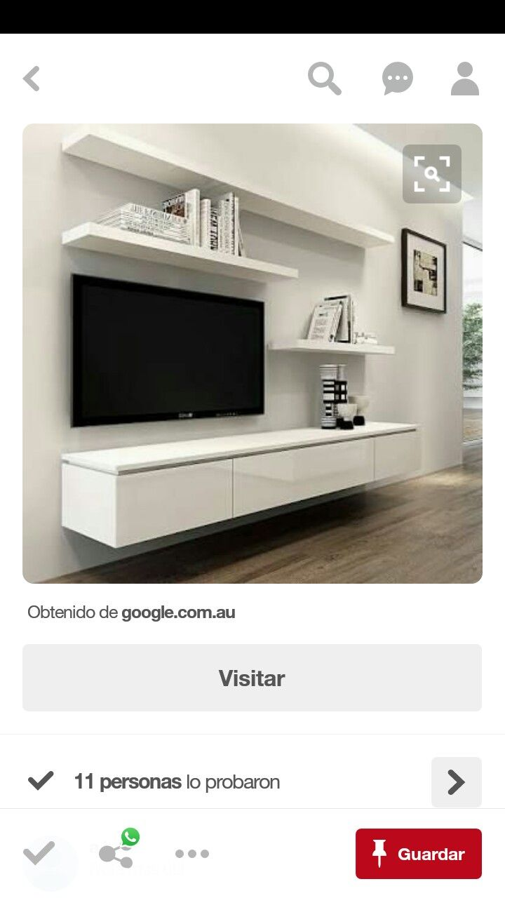 like wall mounted tv floating unit to keep things hidden but accessible and floating shelves for decorations