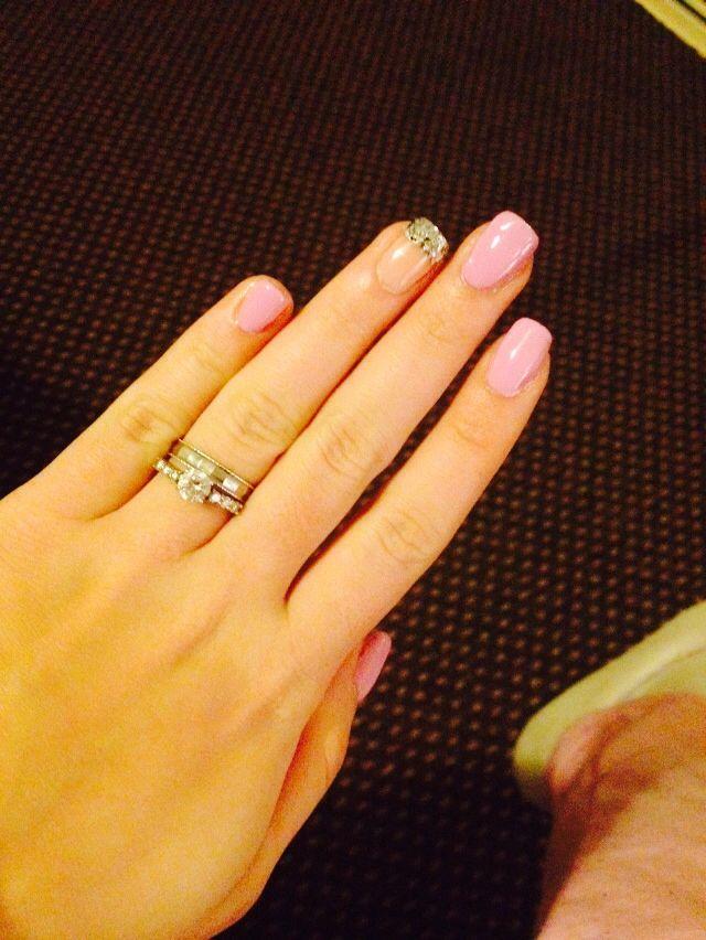 Mie unghie naturali , con smalto rosa confetto !