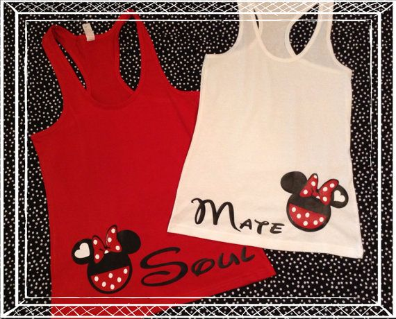 Free Shipping-Matching Gay Lesbian SOul Mate Couple Disney Inspired Tanks Or Tees