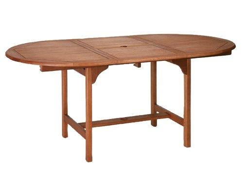 Siena Garden 657022 Ausziehtisch Nassau,  L 120/170 x B 100 x H 74 cm Eukalyptus-Holz