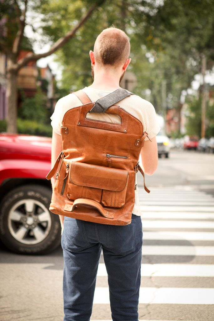 Men's Backpack, Montreal Street Style