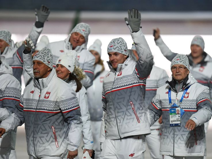 These are nice coats! The Poland Olympic team enter the Opening Ceremony of the Sochi 2014 Winter Olympics at Fisht Olympic Stadium.