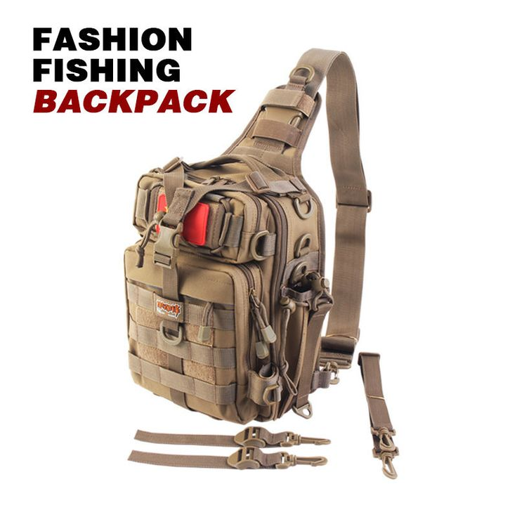 Buy Fishing Backpack Chest Pack WaterResistant Saltwater Reel Bag Fishing Tackle Box at online store