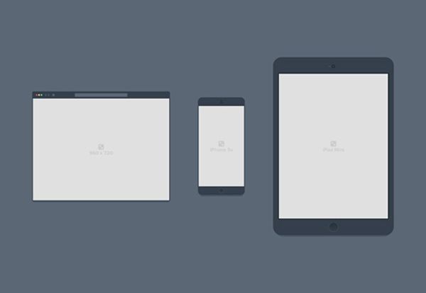 PSD Containers for Browser, Mobile, Tablet
