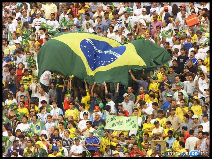 A fanatismo da torcida Brasileira !