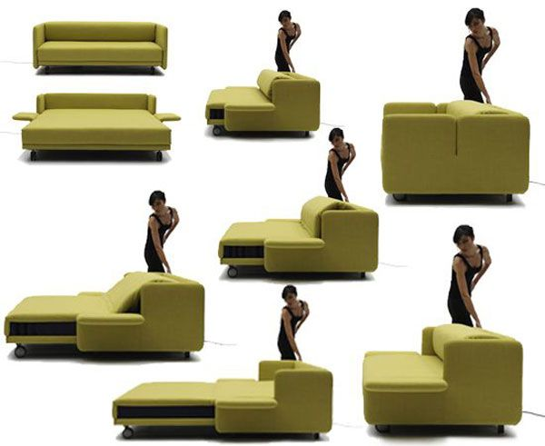 Wow Sofa Becomes A Practical Bed With Just The Push Of On