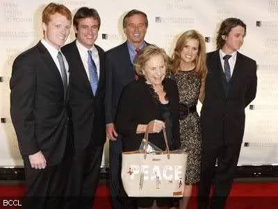 Joseph Kennedy III, Matthew Kennedy, Robert Kennedy Jr., Ethel Kennedy, Kerry Kennedy and Robert Kennedy lll
