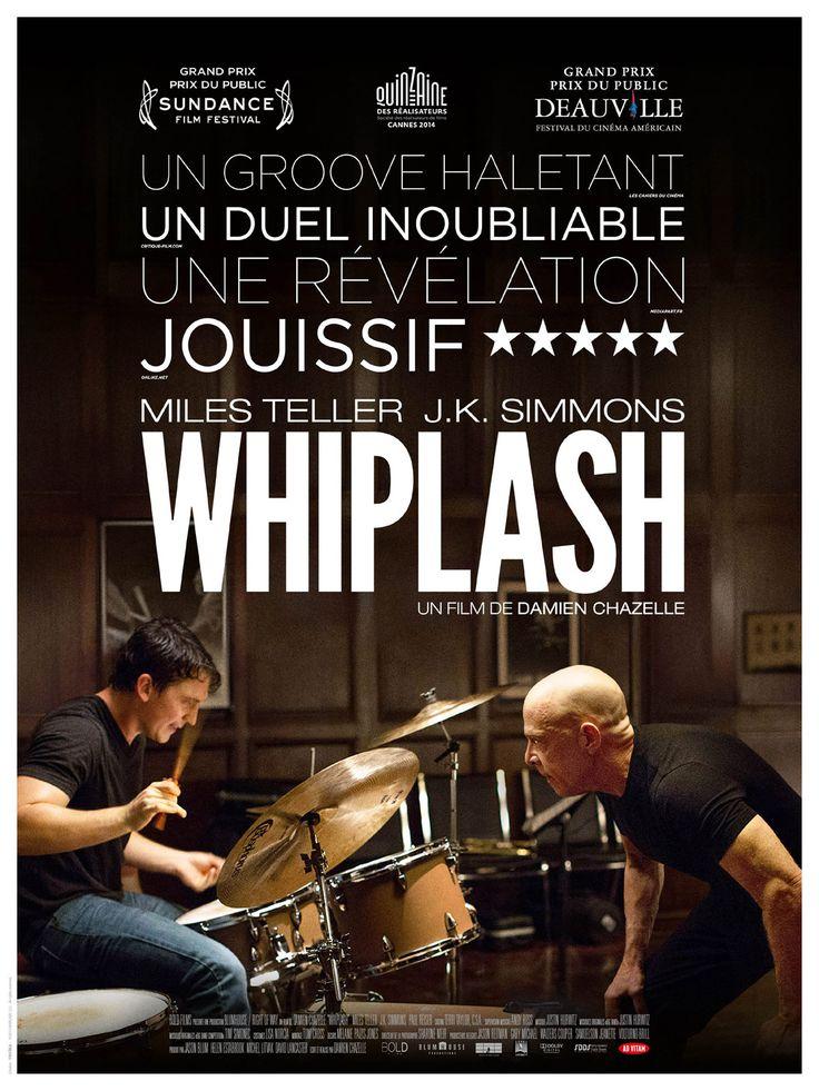 Whiplash est un film de Damien Chazelle avec Miles Teller, J.K. Simmons. Synopsis : Andrew, 19 ans, rêve de devenir l'un des meilleurs batteurs dejazz de sa génération. Mais la concurrence est rude auconservatoire de