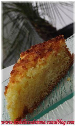 gâteau pommes croustillant coco
