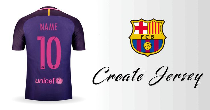 Personalized FC Barcelona 2016/2017 Away jersey. Customize your own FC Barcelona 2016/2017 Away Create your own personalized FC Barcelona 2016/2017 Away