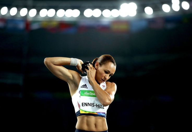 <p>Jessica Ennis-Hill of Great Britain during the Women's Heptathlon Shot…