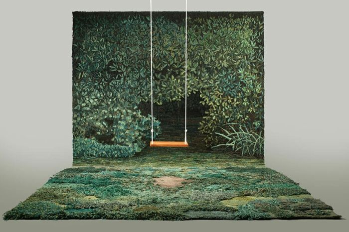 designer teppich indoor garten naturlandschaft wald look bodenbelag teppichbode teppichläufer