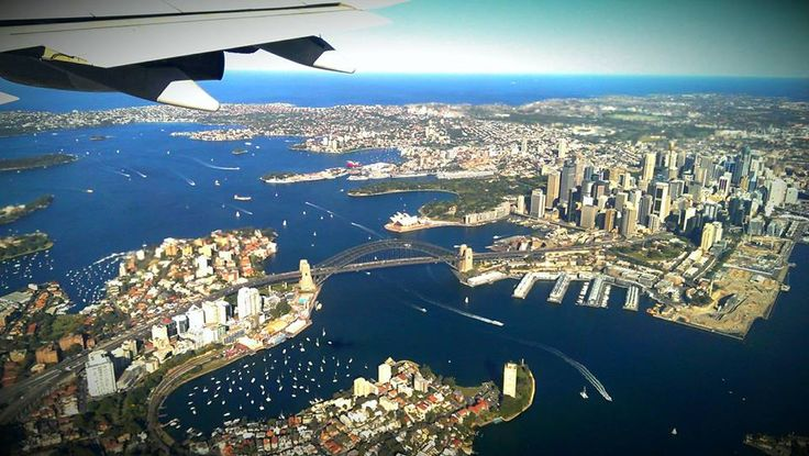 Aerial view of Sydney....spectacular!