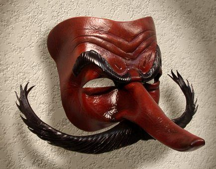 Commedia Masks: Capitano