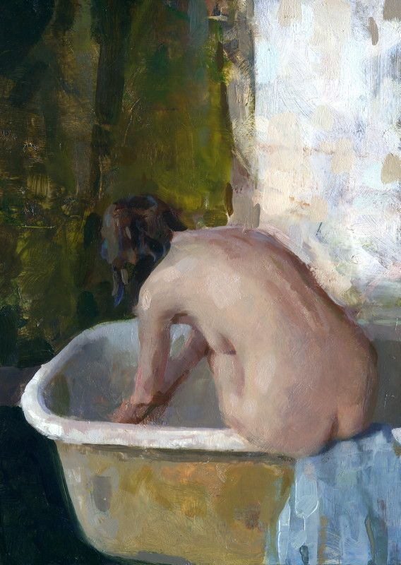 Jon Redmond, Nude Sitting on Bathtub