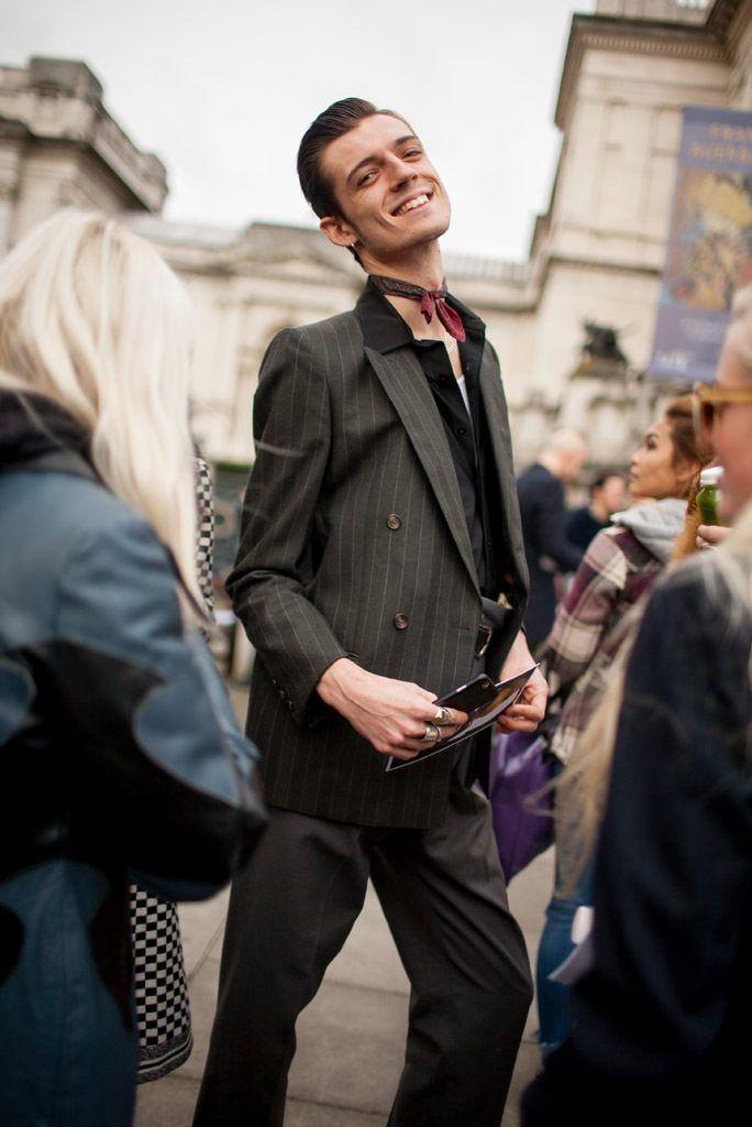 ロンドンで行われた2016,17年秋冬ロンドン・ファッション・ウイーク会場