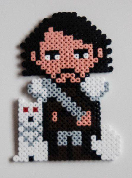 Jon Snow and Ghost Game of Thrones Bead Sprite