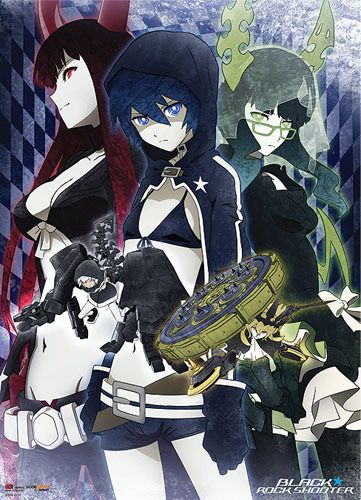 Static Fluff Anime - Fabric Posters: Black Rock Shooter - Black Rock Shooter, Dead Master, Black Gold