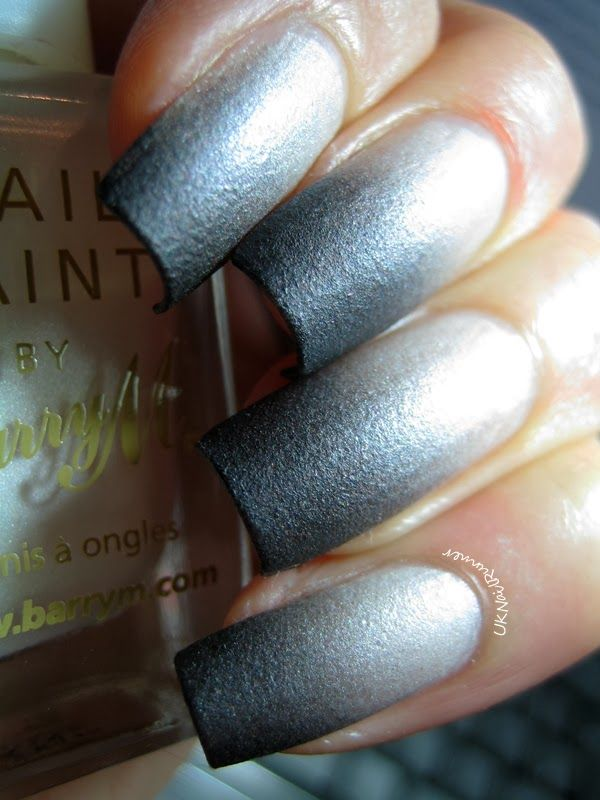 Barry M Silk Nail Paints Pearl and Manglaze Matte is Murder