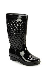 QUILTED JELLY BOOT