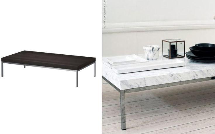 Creative Idea To Update An Ikea Table Klubbo Table Marble Self Adhesive Vinyl Diy Ideas
