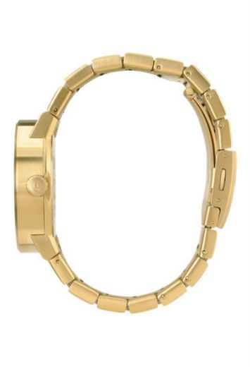 NIXON GOLD WOMENS WATCH The Nixon Cannon all gold watch is a modern classic. For elegant style pair this muted all gold, delicately simple face with a chic sheepskin or Little Black Dress.