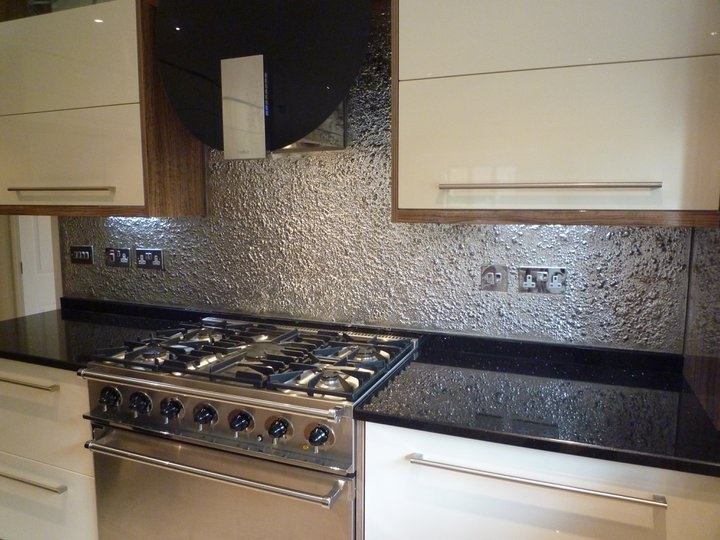 Textured Glass Kitchen Splashback Kitchen Backsplash