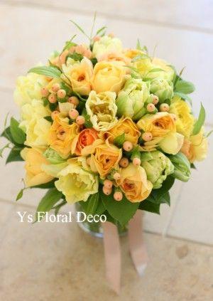 春の黄色クラッチブーケ  @鎌倉プリンスホテル  ys floral deco