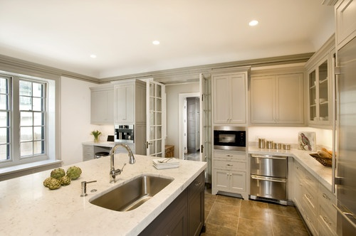 Best Accents Of Greige Trim Around Cream Colored Kitchen 400 x 300