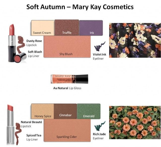 Mary Kay Colors for Soft Autumn #1 & #2
