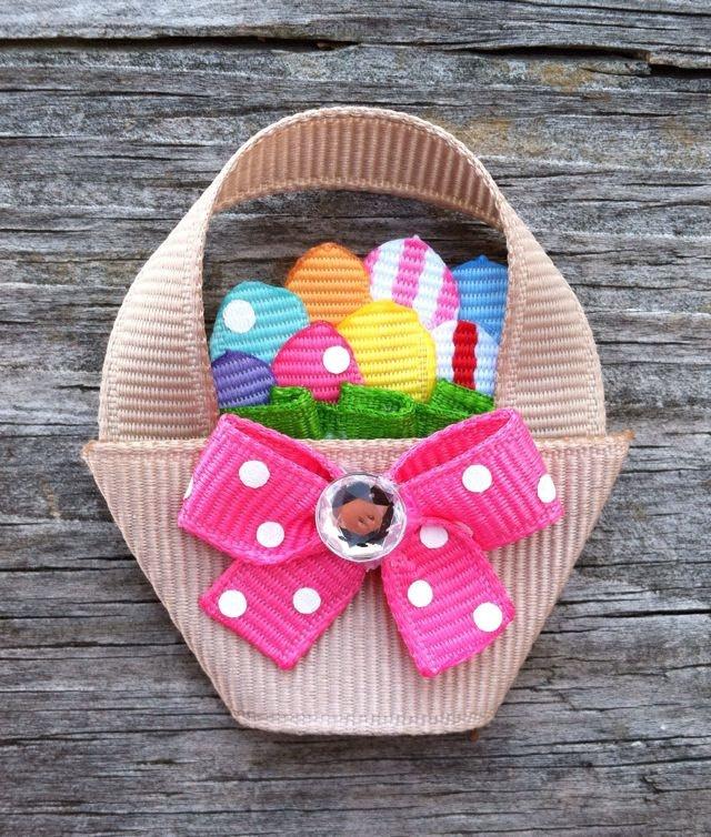 Easter Basket hair clip