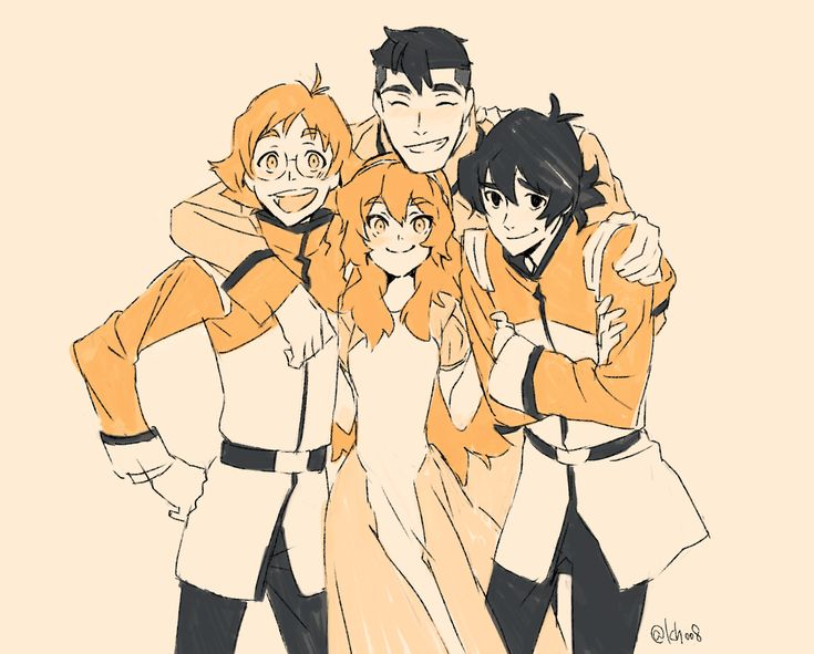 Pidge/Katie and her Galaxy Garrison Boys- Matt Holt, Keith and Shiro from Voltron Legendary Defender