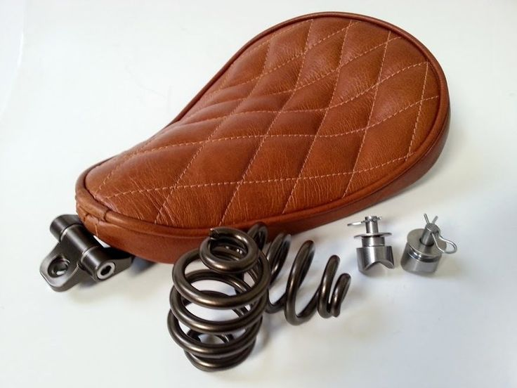Solo Seat Tan Leather Kit Springs & Bracket Heavy Duty Harley Chopper Bobber | eBay