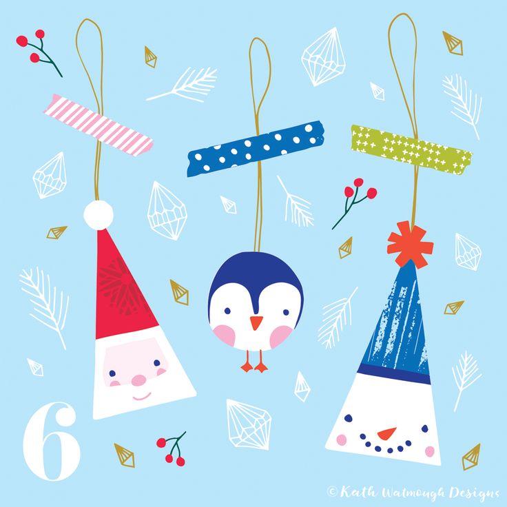 Day 6 of my advent challenge 2017.  #makeitindesign #fatherchristmas #santa #penguin #snowman #advent #adventcalendar #adventchallenge2017 #adventcalendar2017 #adventcalendarart #christmascalendar #christmascountdown #illustration #freelance #freelancedesigner #christmas2017 #christmas #kathwatmoughdesigns https://www.instagram.com/kathwatmough