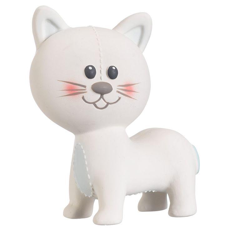 Goldig, oder? Das Spieltier Lazare die Katze aus Naturkautschuk von Sophie la girafe ist ein super süßes Geschenk für #Babys  | Babyartikel.de