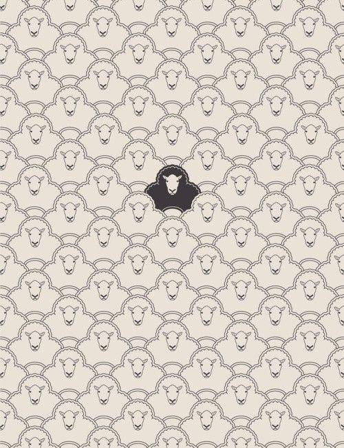 black sheep - by Young Davis, http://society6.com/DaviesBabies/Black-Sheep-3I6_Print/