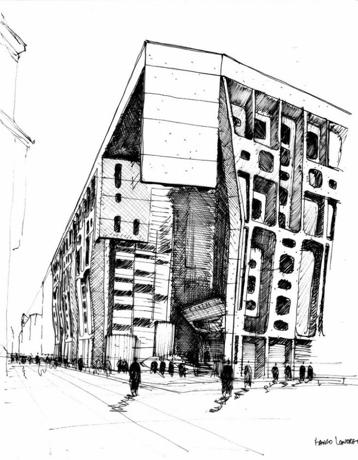 Croquis Arq. Clorindo Testa / Banco Hipotecario - Ex Banco de Londres