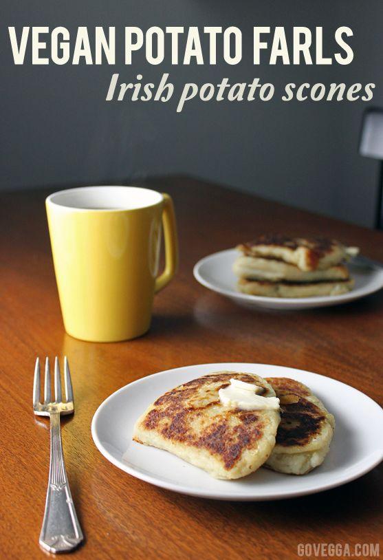 Vegan potato farls (Irish potato scones) // govegga.com