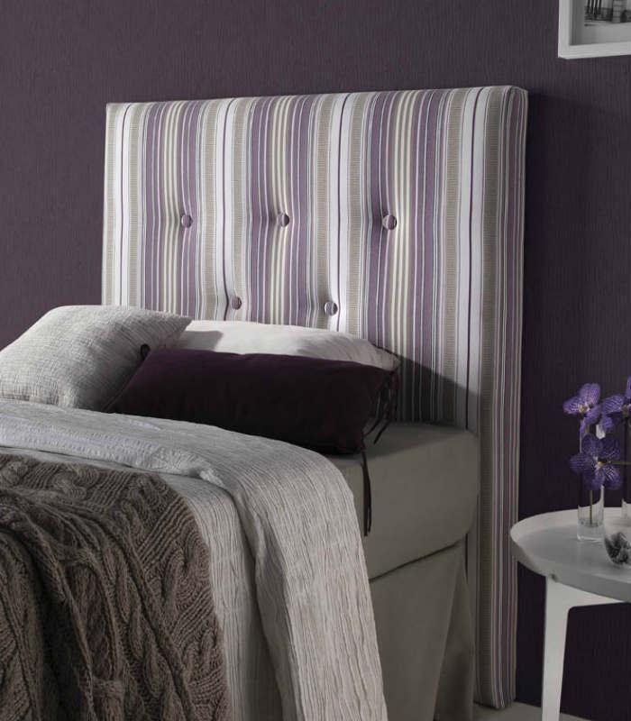 el cabecero de cama de matrimonio ayora de la firma hersan fabricado en tela con