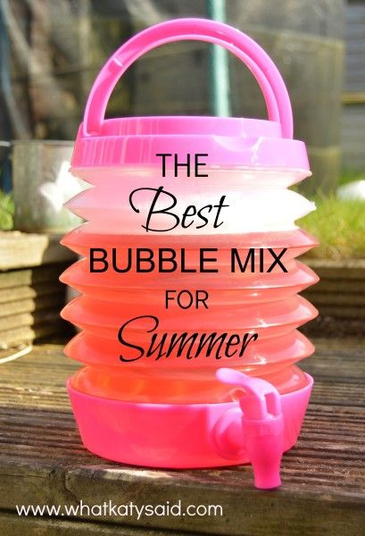 The best recipe for bubbles and a cool way of storing and dispensing them!