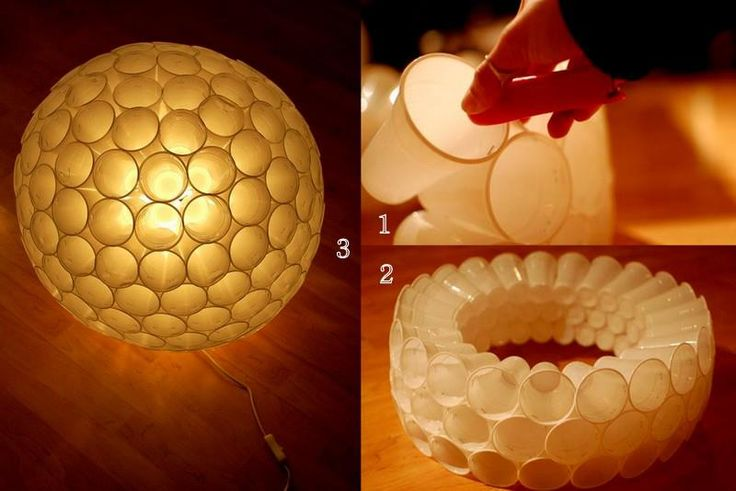 DIY Plastic Cup Lamp - an inexpensive and awesome way to decorate
